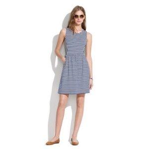4/$25 Madewell Navy Blue Stripe Sheath Dress Sz XS